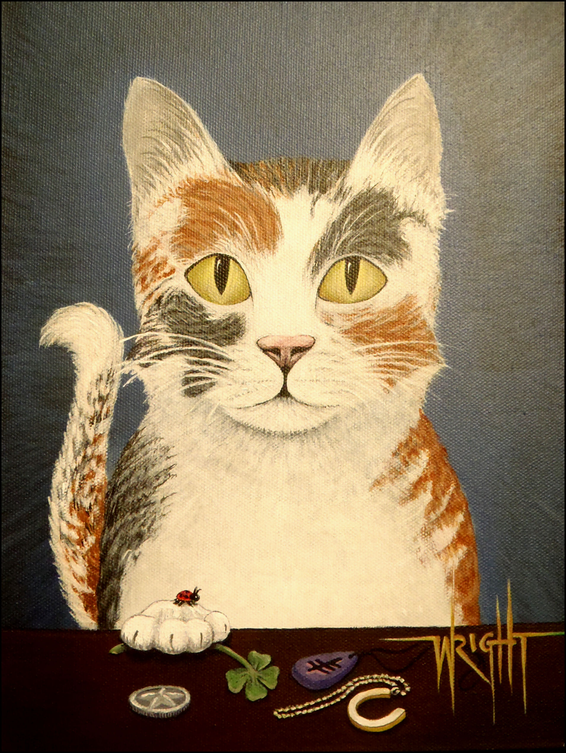Cat Painting by Walt Wright